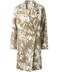 Jason Wu Printed Oversize Coat - Brown