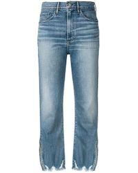 3x1 - W4 Relaxed Split Crop Jeans - Lyst