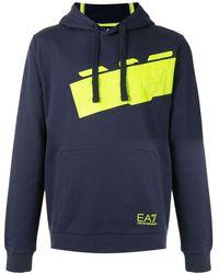 EA7 ロゴ パーカー - ブルー