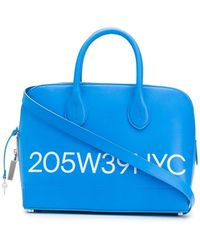 CALVIN KLEIN 205W39NYC Logo Print Tote Bag - Blue