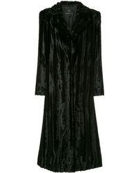 Unreal Fur Velvet Underground Coat