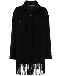 T By Alexander Wang Fringed Single-breasted Jacket - Black