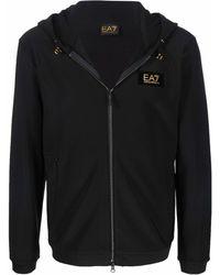 EA7 ロゴパッチ パーカー - ブラック