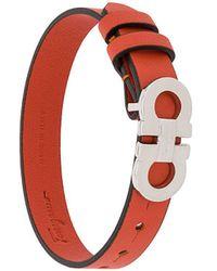 Ferragamo Gancini-plaque Cuff - Orange