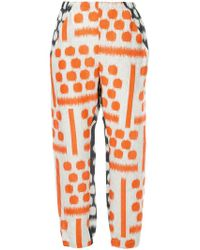 Zero + Maria Cornejo - Brush Stroke Cropped Trousers - Lyst