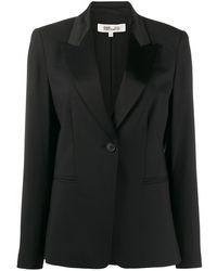 Diane von Furstenberg シングルボタン ジャケット - ブラック