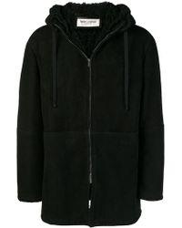 Saint Laurent - Hooded Coat - Lyst