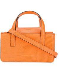 Marge Sherwood リザードスキンパターン ハンドバッグ - オレンジ