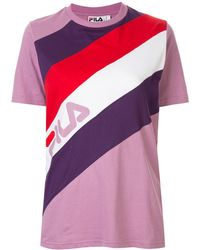 Fila - ストライプ ロゴ Tシャツ - Lyst