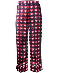 Fendi Heart Print Pyjama Trousers - Blue
