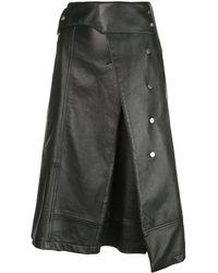 3.1 Phillip Lim Aラインスカート - ブラック