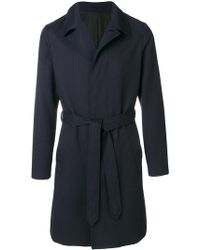 AMI - Belted Coat - Lyst