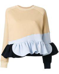 Ioana Ciolacu Frilled Colour Block Sweatshirt - Multicolour