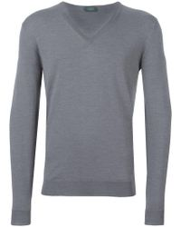Zanone - V-neck Jumper - Lyst