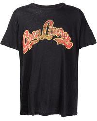 Greg Lauren Groovy ロゴ Tシャツ - ブラック