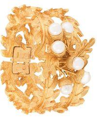 Oscar de la Renta Acorn And Leaf Bracelet - Metallic