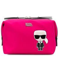 Karl Lagerfeld K/ikonik Karl トラベルポーチ - ピンク