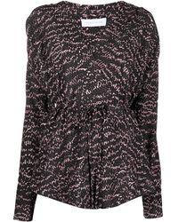 Christian Wijnants Snakeskin-print Wrap Shirt - Pink