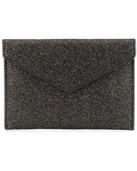 Rebecca Minkoff Leo Glitter Envelope Clutch Bag - Black