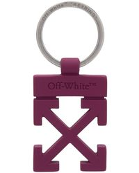 Off-White c/o Virgil Abloh Брелок С Логотипом Arrows - Пурпурный