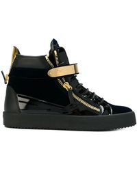 Giuseppe Zanotti Carter Mid-top Sneakers - Black