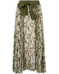 Silvia Tcherassi Blanche フローラルスカート - グリーン