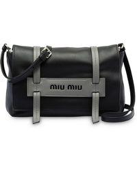 b3f42f8327ae23 Miu Miu - Grace Lux Leather Shoulder Bag - Lyst