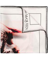Alexander McQueen スカルモチーフ スカーフ - ホワイト