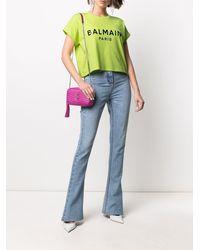 Balmain Camiseta corta con logo estampado - Verde