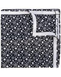 Fefe - Star Print Pocket Square - Lyst