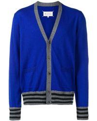 Maison Margiela Vest Met Streepdetail - Blauw