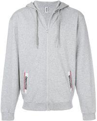 Moschino - Logo Pocket Hoodie - Lyst