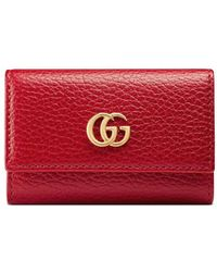 Gucci GG Marmont Leren Sleutelhoes - Rood
