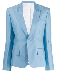 Haider Ackermann Tailored Single-breasted Blazer - Blue