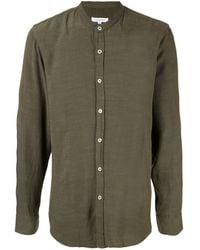 Venroy バンドカラー シャツ - グリーン
