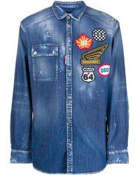DSquared² - Джинсовая Рубашка С Нашивкой-логотипом - Lyst