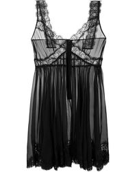 Dolce & Gabbana Sheer Slip Nightdress - Черный