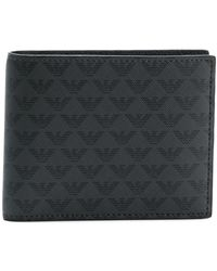 Emporio Armani All Over Logo Wallet - ブラック