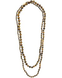 Rosantica Long Beaded Necklace - Brown