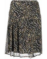 Lala Berlin Falda recta con estampado de espray - Negro