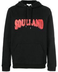 Soulland - Logo Print Hoodie - Lyst