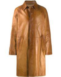 Prada Single breasted overcoat - Marron