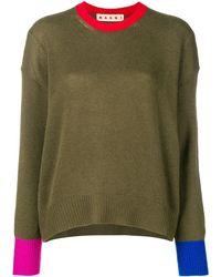 Marni - コントラストトリム セーター - Lyst