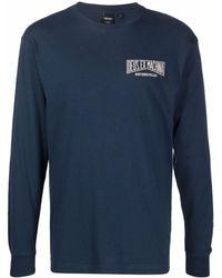 Deus Ex Machina Camiseta Leander con logo - Azul