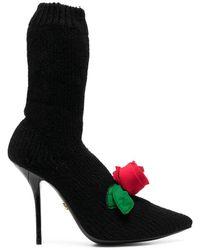 Dolce & Gabbana Ботильоны-носки - Черный