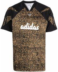 adidas Sprt レオパード Tシャツ - ブラウン