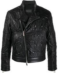 Emporio Armani Chaqueta con bordado - Negro