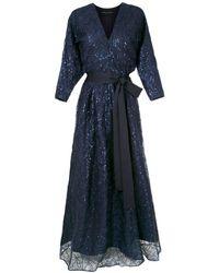 Gloria Coelho Вечернее Платье С Вышивкой - Синий