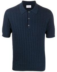 Ferragamo Gancini-embroidered Polo Shirt - Blue