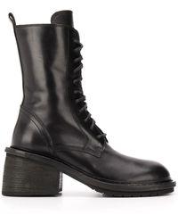 Ann Demeulemeester Zapatos náuticos con cordones - Negro